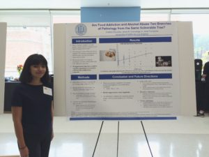 Here's Cristina presenting her poster!